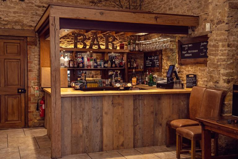 The drinks bar at The Great Barn