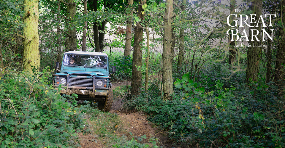 4x4 driving at The Great Barn, Oxfordshire